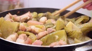 Thay đổi khẩu vị cho cả gia đình với món CẢI CHUA XÀO THỊT ngon và đơn giản | Zui Vào Bếp