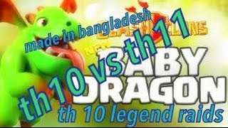 Clash of clans| Th 10 baby dragon attack| Road to legend attack| Townhall 10 Dragon baby dragon raid