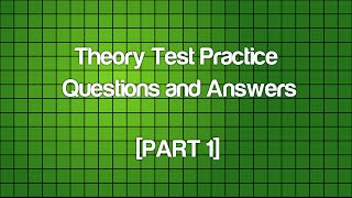 DVLA Official Questions and Answers - Car Theory Test Practice ALERTNESS [Part 1]