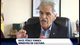 Raúl Pérez ministro de cultura y patrimonio informa de sus 6 meses de mandato