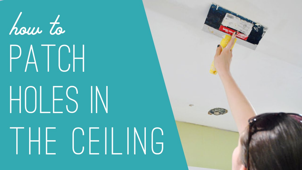 Filling Ceiling Holes