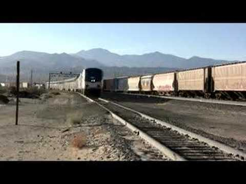 Amtrak Arrival At Palm Springs California