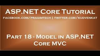 Model in ASP NET Core MVC
