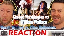 George Washington vs William Wallace ERB REACTION! Epic Rap Battles of History