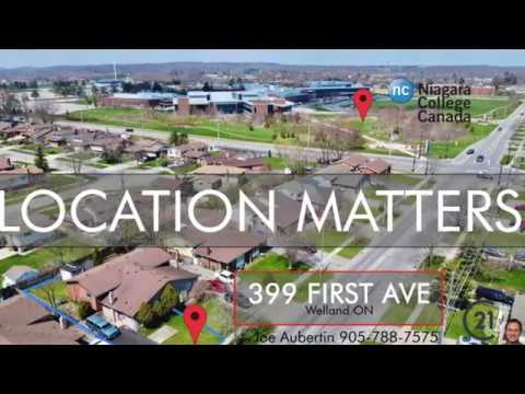 DRONE FLIGHT 399 First Ave To Niagara College Welland Campus Student Rental Income Property FOR SALE