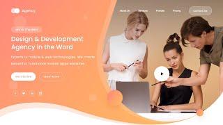Agency Landing Page - Using HTML, CSS / SASS, Vanilla JS