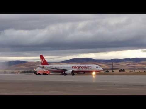 ZAGROSJET inaugural flight Z4 6100 arrived Ankara Esenboga Airport on 2nd of October 2013