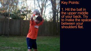 Soccer Tricks - How to Juggle a Soccer Ball with your Back by Online Soccer Academy