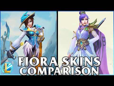 Fiora Skins Comparison | Soaring Sword Fiora and Royal Guard Fiora | WILD RIFT