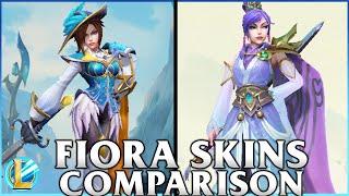 Fiora Skins Comparison | Soaring Sword Fiora and Royal Guard Fiora | WILD RIFT