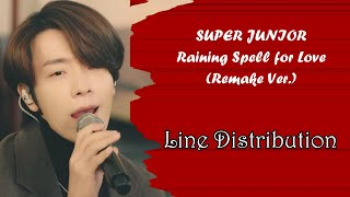 Download SUPER JUNIOR - Raining Spell For Love (Remake Ver.) Line Distribution (Color Coded)