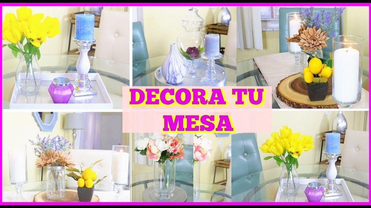Ideas para decorar tu mesa de comedor i centro de mesa i - Decorar una mesa de comedor ...