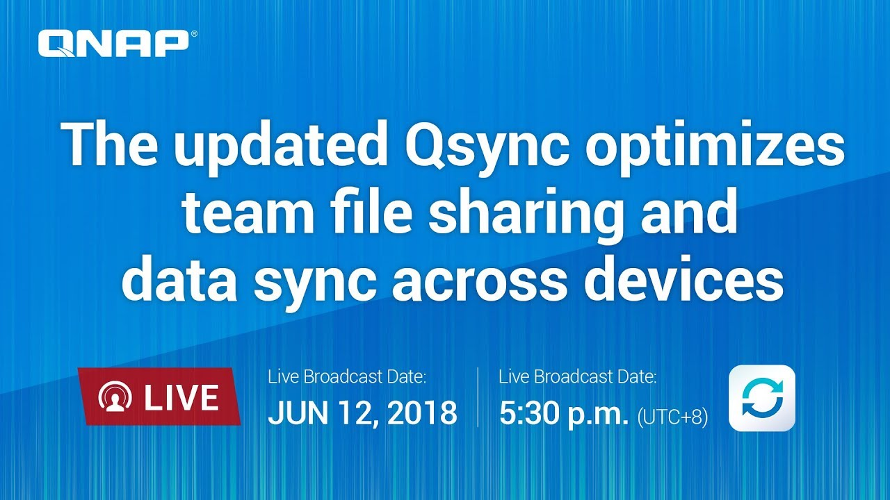 The updated Qsync optimizes team file sharing and data sync