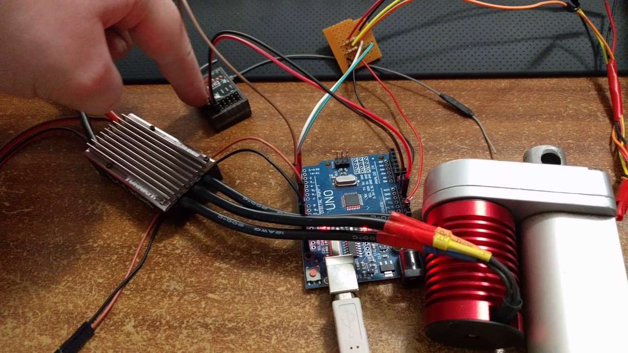 Brushless Linear Actuator Limit Switch Mod - Explanation and Demo