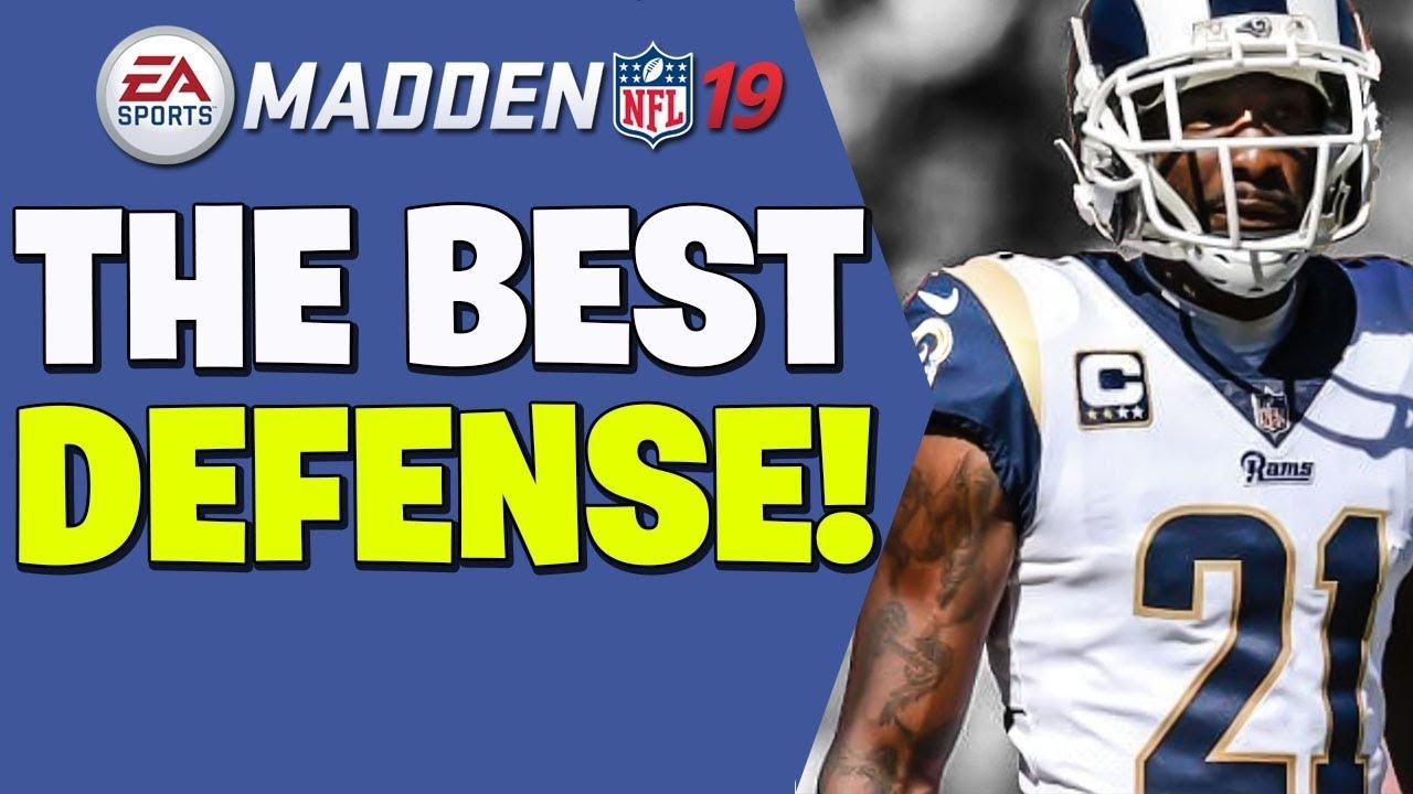 Best defensive scheme madden 19