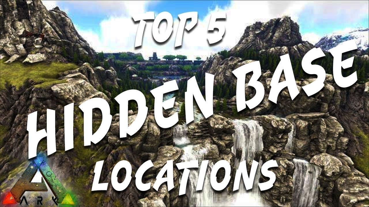 Best Base Locations Ark The Island 2020 Ark Ragnarok: Top 5 Hidden Base Locations   YouTube