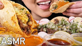 ASMR CRUNCHY BIRRA & QUESO TACOS (Crunchy & Soft Eating Sounds) ASMR EATING NO TALKING | ASMR Phan