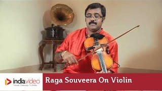 Raga Souveera on Violin by Jayadevan - Instrumental music | India Video