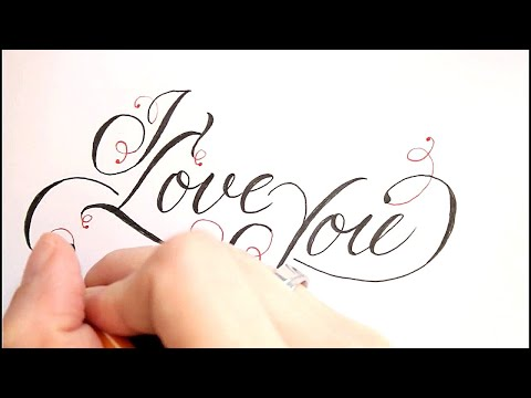 How to Write I Love You in Fancy Cursive - easy version