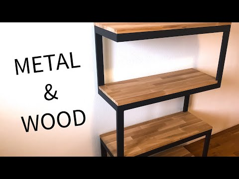 Modern metal & wood shelf build