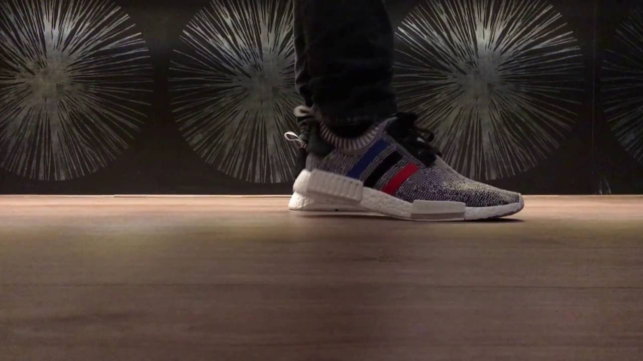 Adidas NMD R1 Primeknit Tri Color Grey White BB2888 Tricolor Men