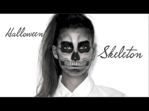 lufy squelette maquillage halloween facile skeleton make up lady gaga born this way. Black Bedroom Furniture Sets. Home Design Ideas