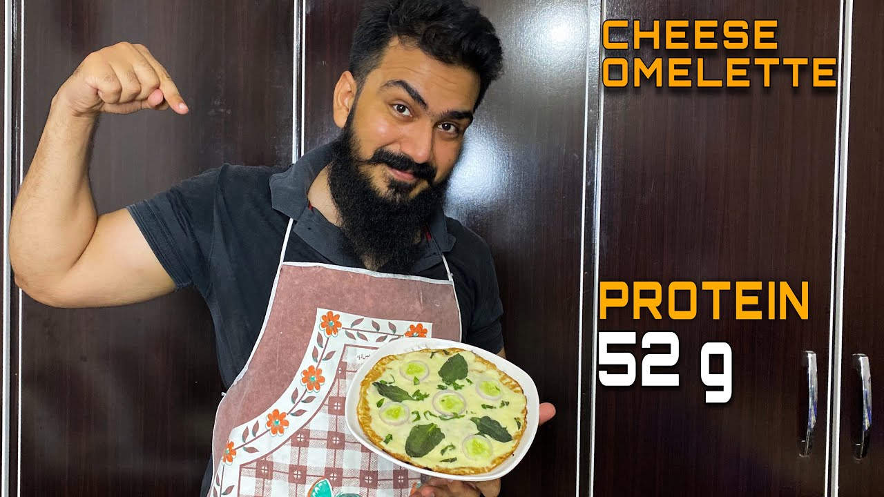 Yummy & Healthy CHEESE OMELETTE for Weight LOSS - 52 g PROTEIN