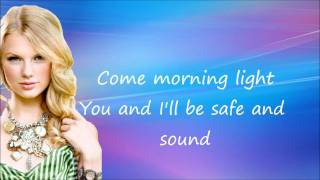 Taylor Swift -  Safe and Sound ft. The Civil Wars  - Lyrics on Screen HD