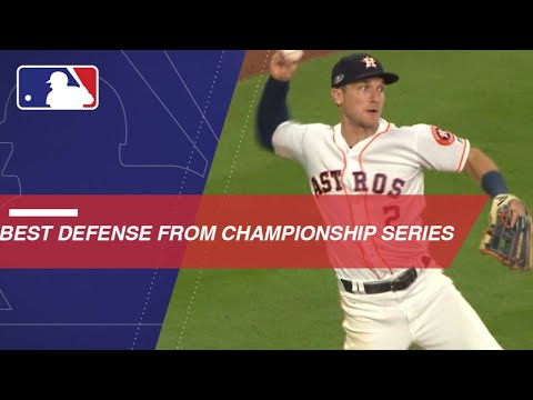 Top defensive plays from the NLCS and ALCS