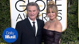 Goldie Hawn and Kurt Russell arrive at 2017 Golden Globes - Daily Mail