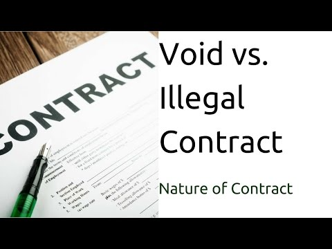 Difference between Void vs. Illegal Contract | Nature of Contract | Types of Contract | CA CPT | CS