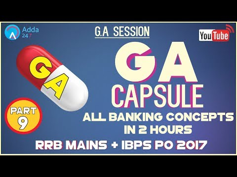 ALL BANKING CONCEPTS IN 2 HOURS | GA CAPSULE DISCUSSION (PART - 9)