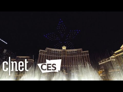 Intel's drone light show sends 250 drones flying over Las Vegas