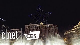 Intel's drone light show sends 250 drones flying over Las Vegas at CES 2018