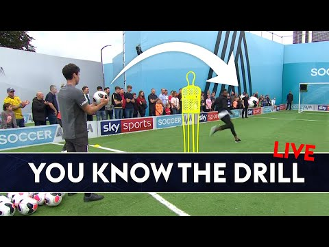 Over The Shoulder Volley Challenge! | You Know The Drill Live | Darren Bent & Jimmy Bullard