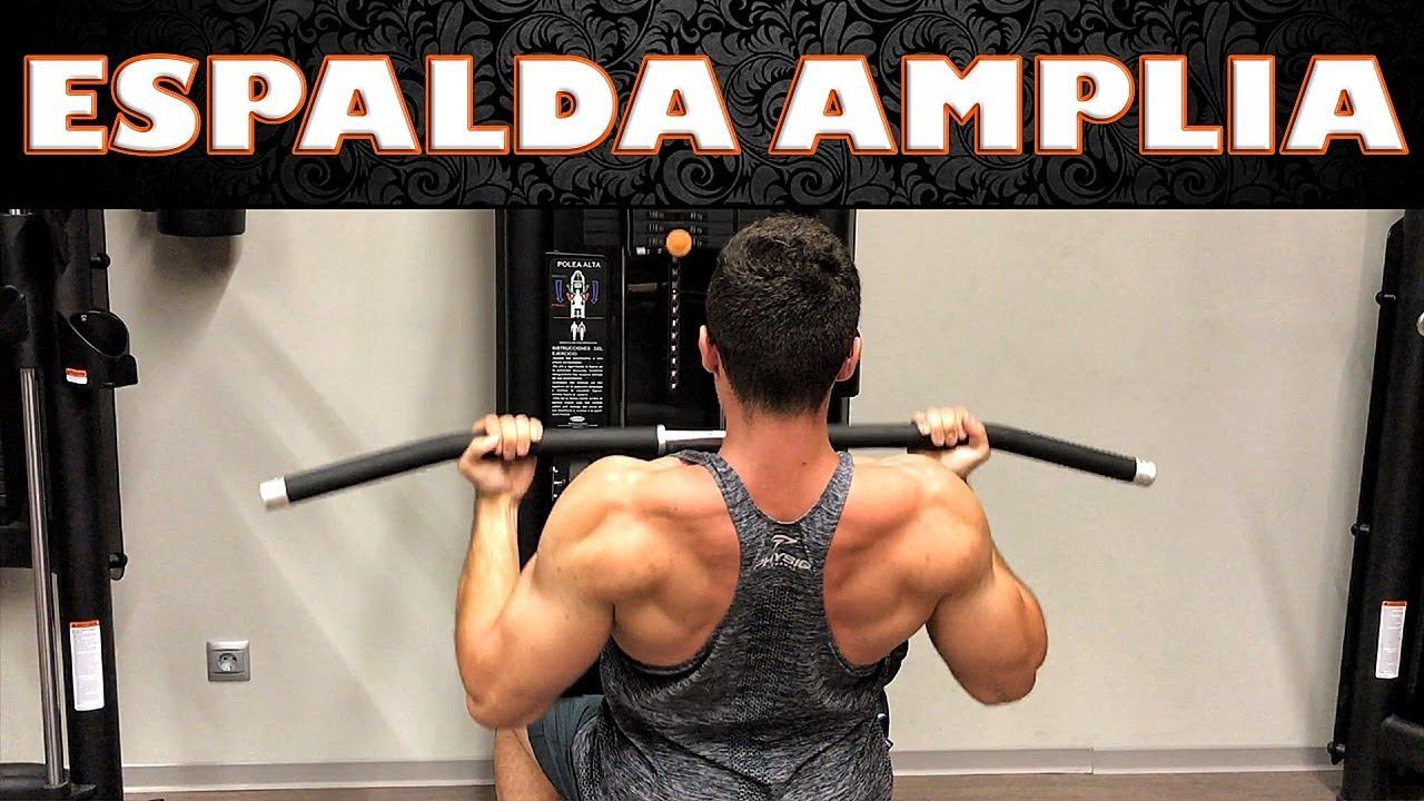 rutina para espalda gym hombres