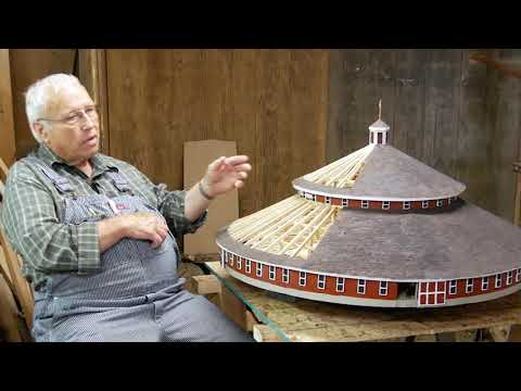 84 Year-Old Wood County Resident Creates Scale Model of Marshfield's Round Barn