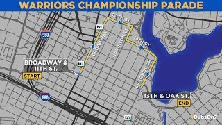 VIDEO: A look at the Warriors 2018 victory parade route