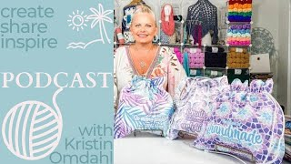 Create share inspire 837 GIVEAWAY CONTEST podcast daily vlog Kristin Omdahl knitting crochet yarn 🧶