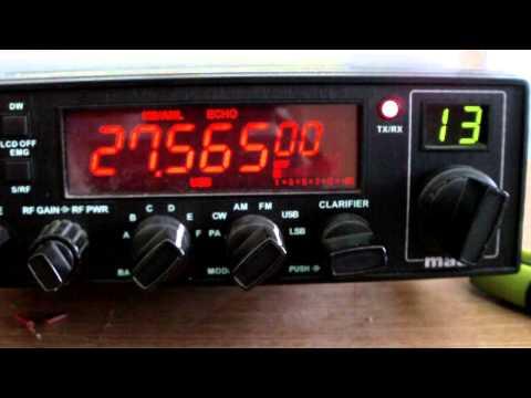 Legatura Radio CB in banda de 11m Romania - Scotia cu Steve