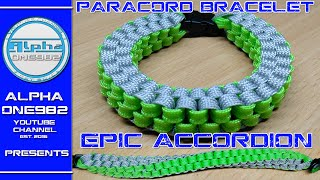 How to make EPIC Paracord Bracelet Accordion 2016