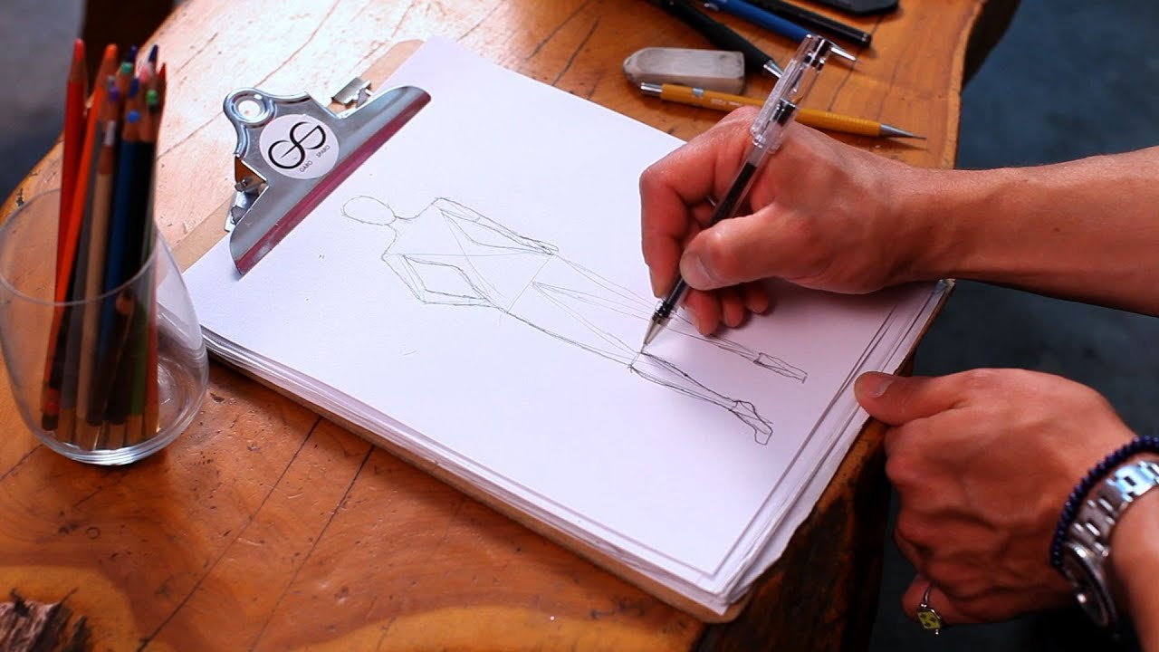 How To Draw A Figure Fashion Sketching YouTube