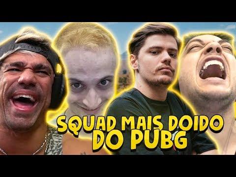 SQUAD MAIS DOIDO DO PUBG ft Dilera Netenho e Skipnho