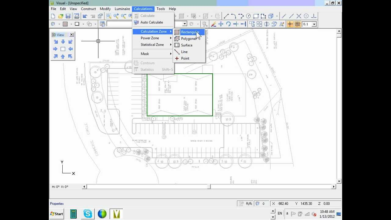 commercial lighting calculation visual software parking lot 01 13 12 wmv
