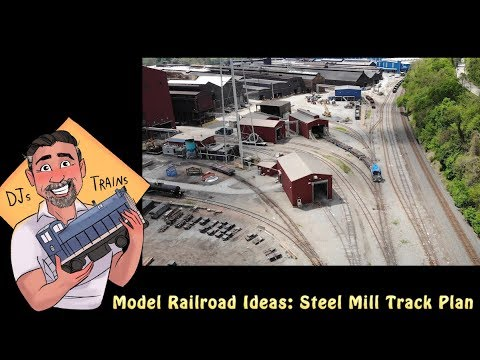 Model Railroad Ideas! Steel Mill track plan and modeling ideas!