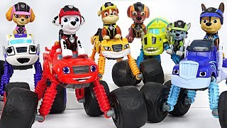 Blaze and the Monster Machines Monster Morpher Go! Save the Tayo with Paw Patrol! #DuDuPopTOY