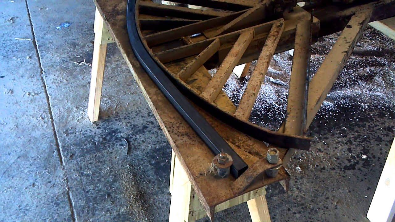Bending tubing for round hay bale feeders youtube