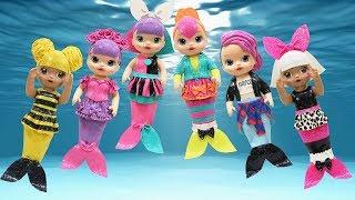 Play Doh Mermaids LOL Surprise Doll  Diva Queen Bee Neon Q T Pranksta Rocker Sugar Queen