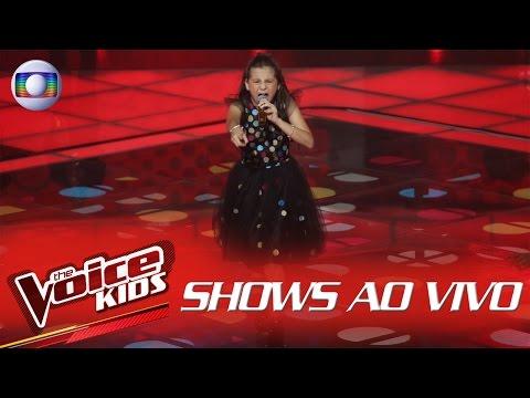 Valentina Francisco canta 'Vem Quente Que Eu Estou Fervendo' no The Voice Kids Brasil