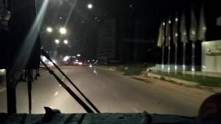 Ночной Пномпень через лобовое стекло автобуса(, 2017-01-18T18:43:11.000Z)